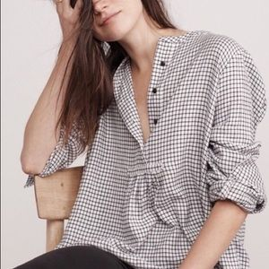 MADEWELL MARKET POPOVER SHIRT in Malone Plaid L